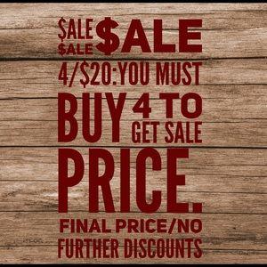 Sale 4/$20